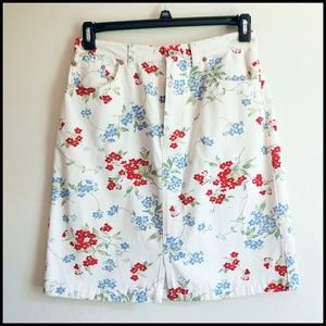 Eddie Bauer Floral Midi Skirt